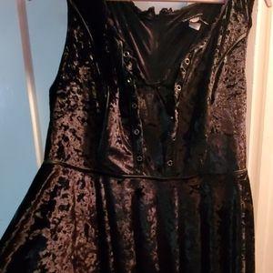 Torrid velvet black dress